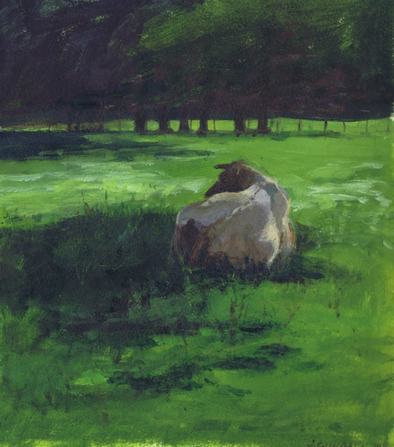 De Wiersse cow only painting